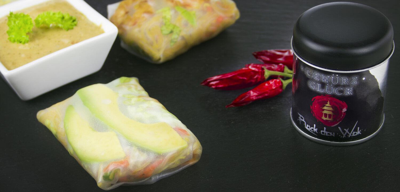 summer rolls mit asia gewürz