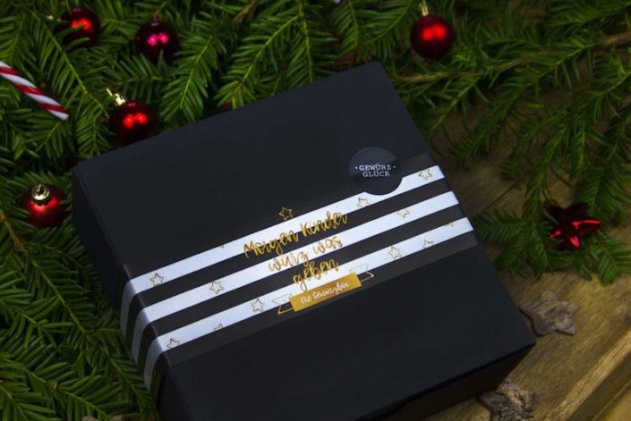 weihnachtsgeschenk box gewürze