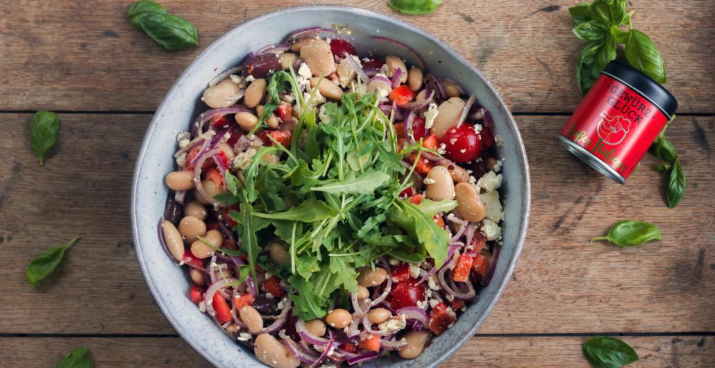 Rießenbohnen-Salat