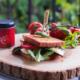 Heißer Italiener Gewürzglück Sandwich
