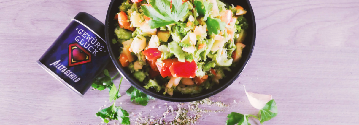 Brokoli Salat Rezept Gewürzmischung