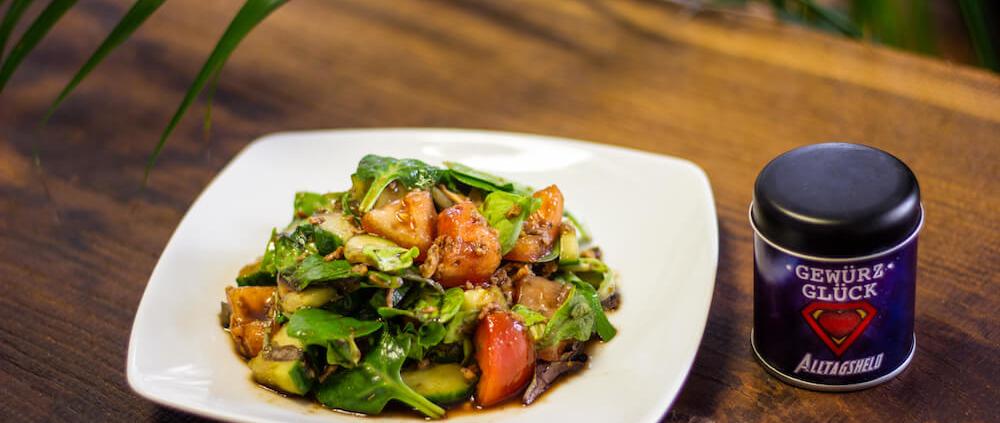 rezept für Salat mit Röstzwiebeln