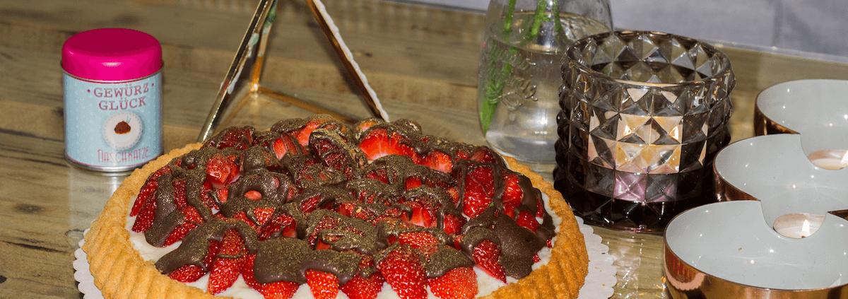 rezept für Erdbeerkuchen mit Pudding