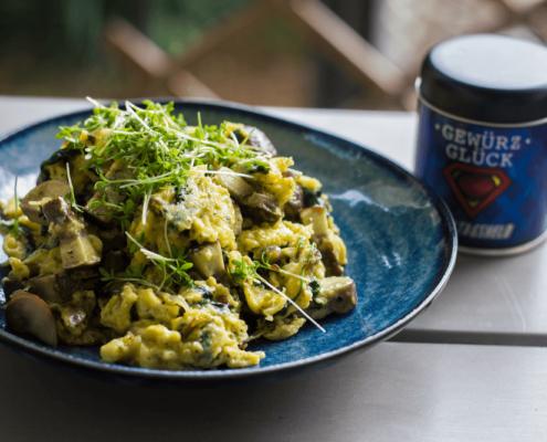 rezept für rührei mit spinat