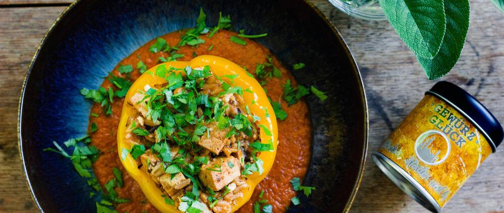 rezept für paprika mit tofu füllung
