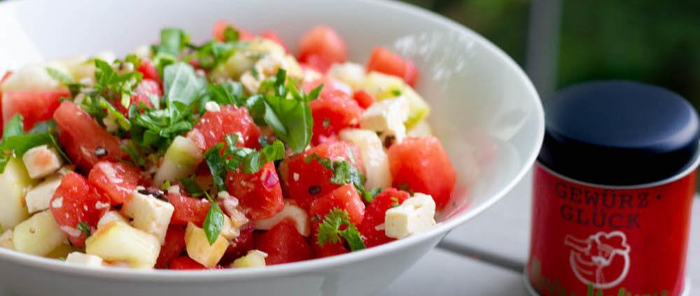 Wassermelonen-Gurken Salat rezept