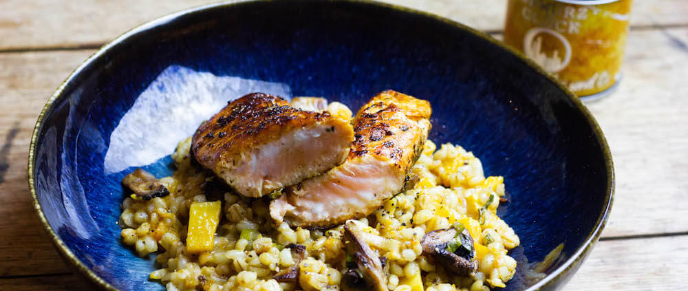orientalisches perlgrauben risotto rezept
