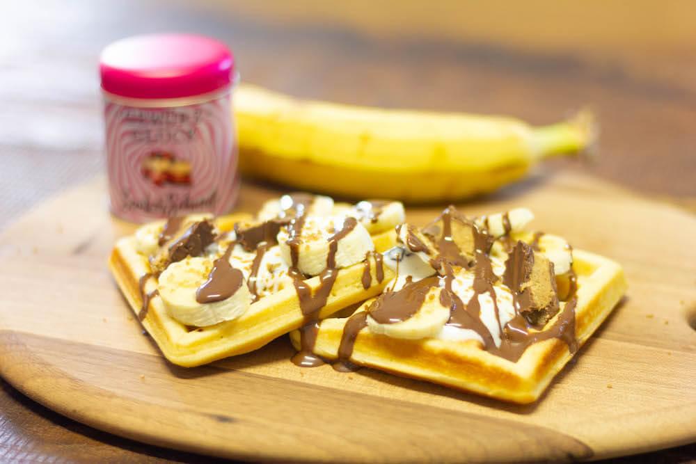 buttermilch waffeln mit bananen rezept